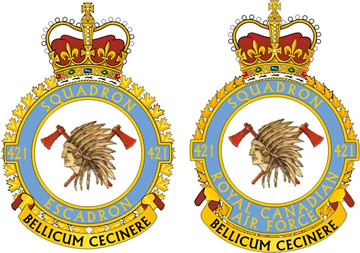 No. 421 Red Indian Squadron Badges